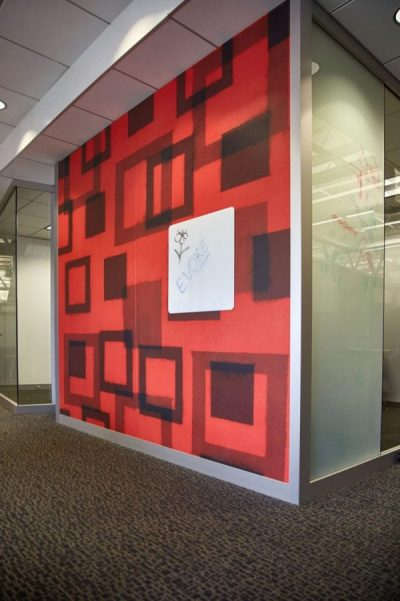 KI Evoke Screen Printed Wall in modular demountable system