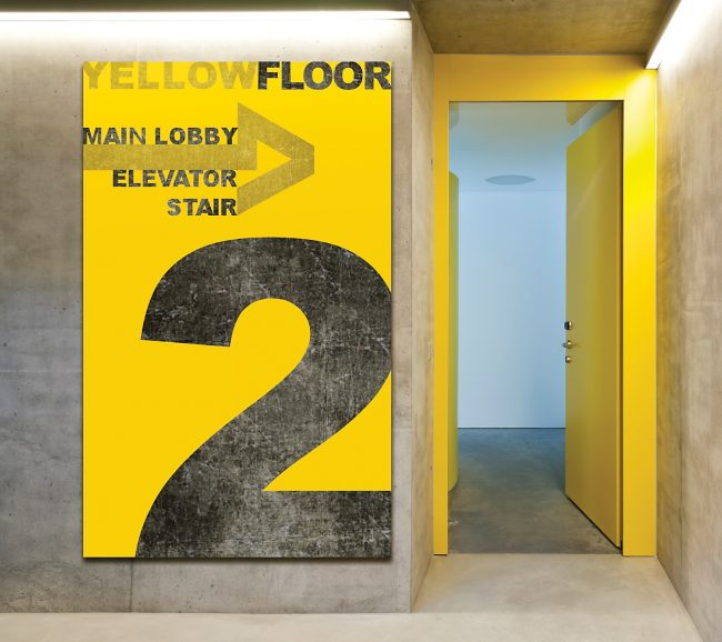 Takeform Garage Signage and Wayfinding