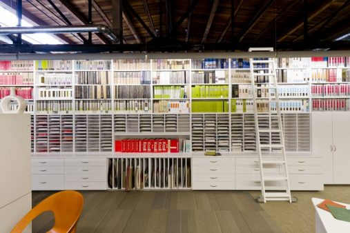 Design Firm Resource Library using Hamilton Sorter Product with Ladder