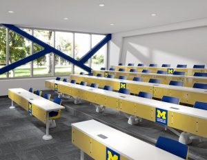 Lecture Hall Classroom featuring KI Fixed Doni Seating