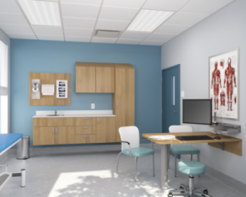 Group Lacasse Harmonia Modular Casework designed for Healthcare Exam rooms
