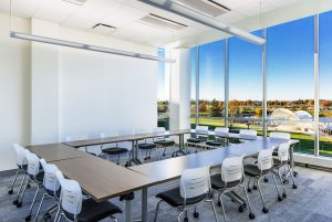 Classroom featuring KI Pirouette Tables and Grazie Chairs