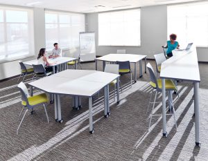 Classroom featuring KI Pillar Tables and Doni Chairs