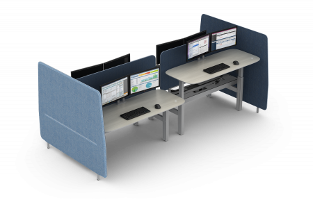 Open Office Height Adjustable Benching Product: Seven from Watson