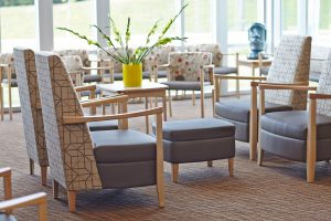 Hospital Waiting Room Featuring Affina Lounge Chairs