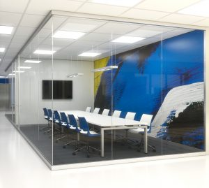 KI Doni Chairs in Conference Room made of Lightline demountable wall