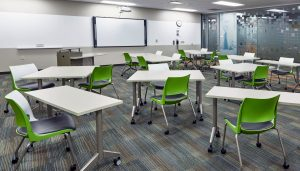 KI Doni Chairs and Pirouette Tables in Classroom