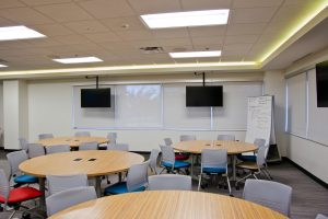 KI Classroom Featuring Strive Chairs and Pirouette Tables