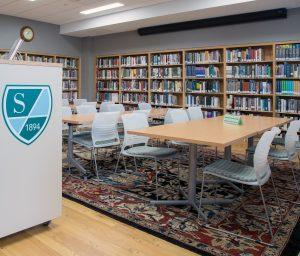 KI strive chairs and portico tables in library setting