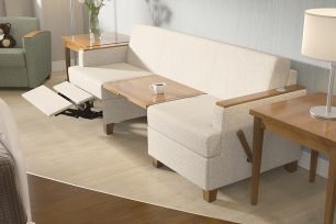 Wieland SleepToo Healthcare Sleeper Sofa and Recliner for patient rooms