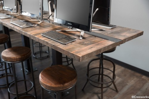 Creoworks custom table workspace office table desk benching wood