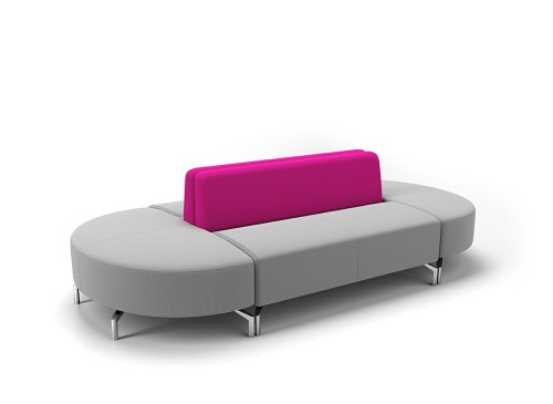 Boss design raft lounge seating, lobby, upholstered, bench, modular, higher education, business, corporate,