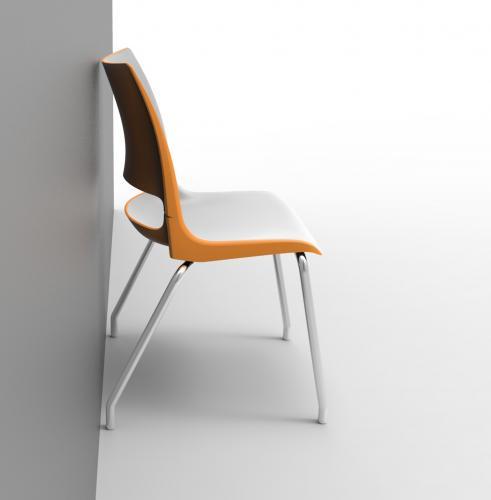 Doni Ganging KI Seating Chair Side Guest 4-Leg Wall Saver
