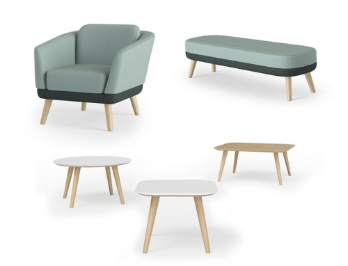 Encore Hado lounge seating, chair, bench