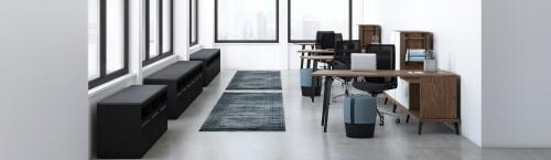 Group Lacasse stad corporate desk, open office, storage