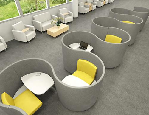 Agati Pod Workstation Mobile Soft Lounge Seating airport privacy