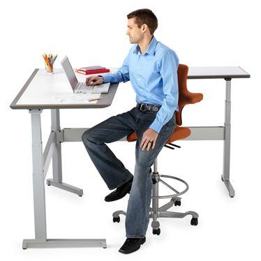 Izzy Rylee height adjustable table, corporate, business, desk