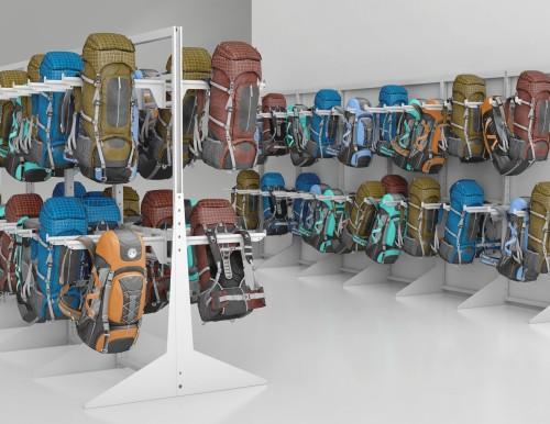 Montel Retail Bags Cantilever Aetnastak Hanging Bars