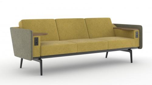 OFS Heya Sofa, seating, lounge, upholstered, lobby,