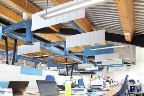 Peter Pepper Ecoceiling acoustical panels, ceiling, public, open office, corporate