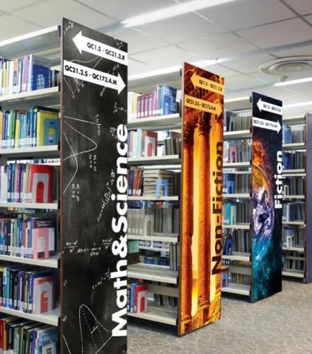 Takeform Moxie library panel signage, k12, public, higher education
