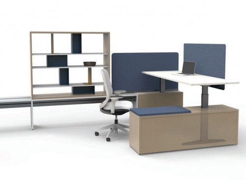 Teknion open office desking, benching, height adjustable, private office, corporate