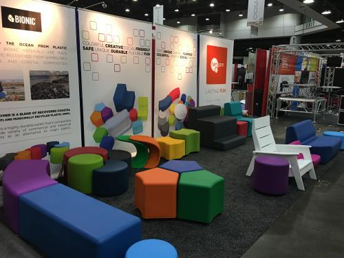 recycled plastic firm bionic ocean TenJam waterproof outdoor  kids k12 furniture duraflex seating