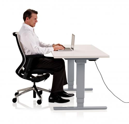 KI Height adjustable table toggle electric desk workstation sit to stand