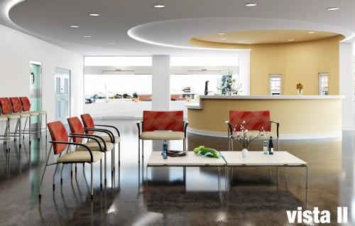 VIA vista II seating, lobby, waiting room, side chair, guest chair, healthcare