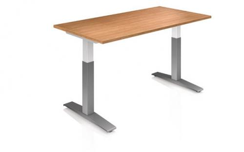 KI Height adjustable table work up desk workstation sit to stand rolling base counterbalance