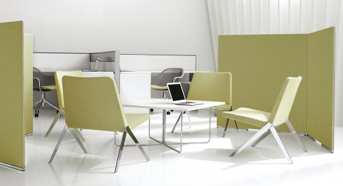 Teknion lite wall, panel, privacy, open office, casual meeting, collaborate