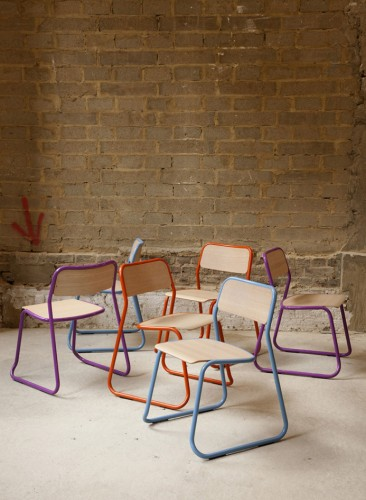 naughtone, bounce chair, side chair, guest, stacking