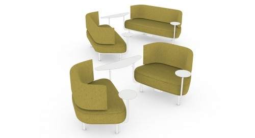 Teknion zones lounge zone sofa, collaborate, soft seating,