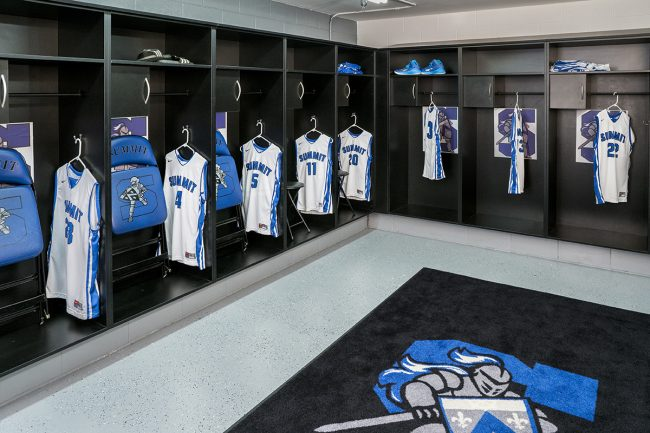 Sports Locker room using Hamilton Sorter Product