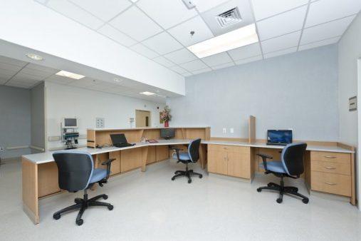 Reception Station using Hamilton Sorter Casegoods