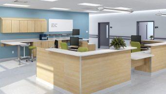 NeoCase Healthcare Modular Casework for Nurse Station