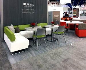 KI Hub Lounge Seating, Doni Chairs, Athens Tables, and MyPlace Lounge furniture.