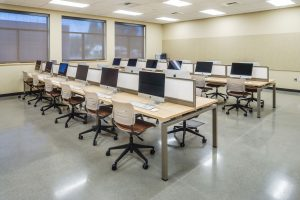 Computer Lab using KI Connection Zone Benching and Grazie Task Chairs