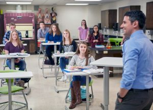 KI features Ruckus desks and chairs in classroom environment
