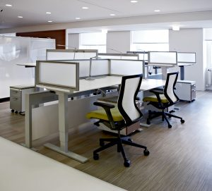 Open Office Untethered Environment Featuring KI Furniture