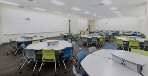 Classroom Featuring KI Strive Chairs and Enlite Tables
