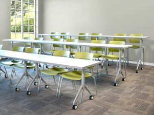KI Grazie Chair and Trek Tables for Classrooms