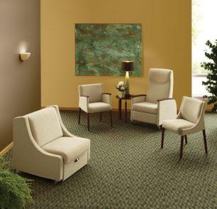 KI Soltice Guest Recliner for healthcare furniture design