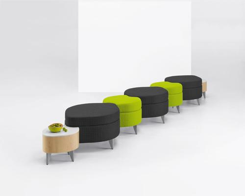 Arcadia Leaf Leaflette modular Lounge Lobby Seating Guest Benches
