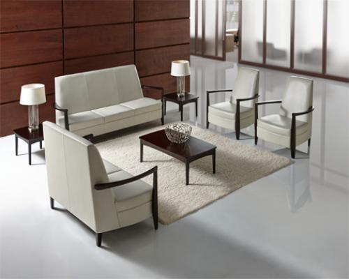 Affina Highback Loveseat Chair Occasional Table Genius Wall KI lounge lobby healthcare business waiting room