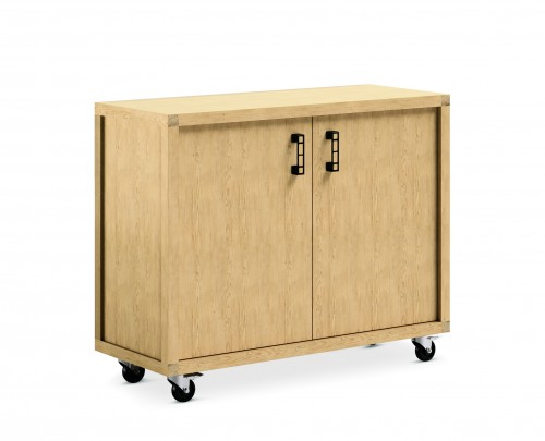 Arcadia WorkSmith Cabinet, Neocon 2018, storage, corporate, mobile, wood