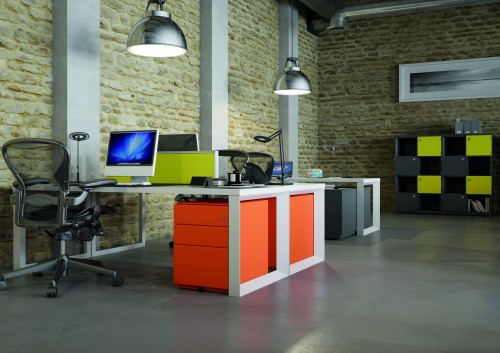 Bisley Note storage ped, drawers, open office, corporate