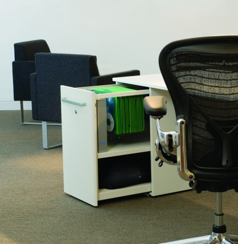 Bisley tower storage, benching, open office, corporate, business