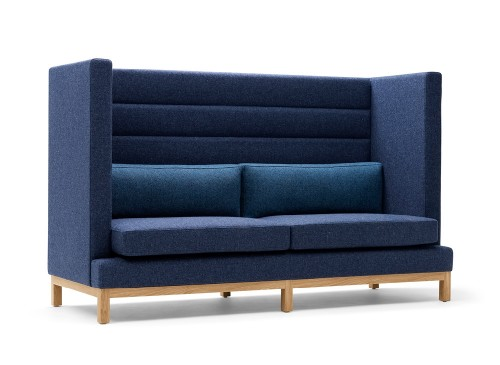 Boss Design Arthur lounge, privacy booth, upholstered, soft seating, higher education, business, corporate, open office