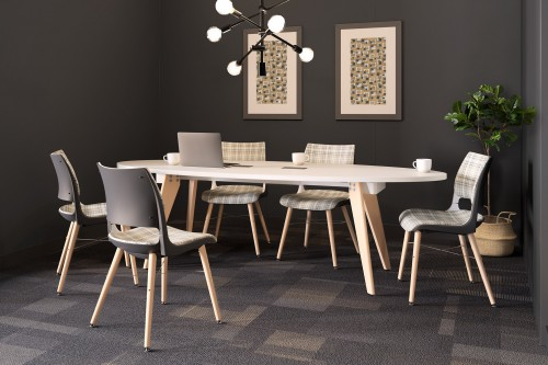 KI Connection Zone Wood Leg Doni Guest Dining Meeting Table Conference Office